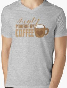 Aunty powered by COFFEE Mens V-Neck T-Shirt