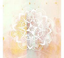 White mandala Photographic Print