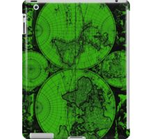 Vintage Map of The World (1685) Black & Green  iPad Case/Skin