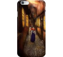 City - Germany - Alley - A long hard life 1904 iPhone Case/Skin