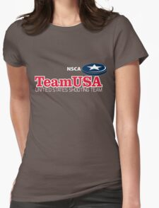 TEAM USA SHOOTING Womens Fitted T-Shirt