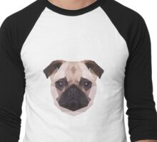 Geometric Pug Men's Baseball ¾ T-Shirt