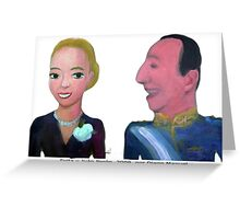 Evita y Juan Peron by Diego Manuel Greeting Card