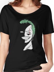 Roronoa Zoro Black and White Women's Relaxed Fit T-Shirt