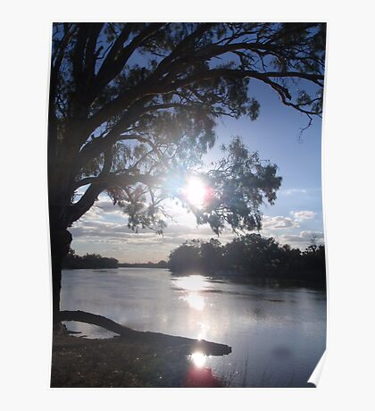 Sunset on the Murray Poster