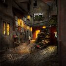 City - Germany - Alley - Coming home late 1904 by Mike  Savad