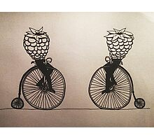 Brombeer Bicycle Club Illustration Photographic Print