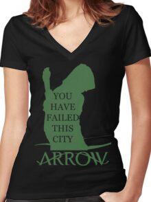Arrow Hero 2 Women's Fitted V-Neck T-Shirt