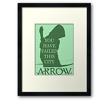 Arrow Hero 2 Framed Print