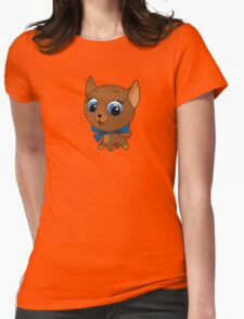 Cute cat vector illustration Womens Fitted T-Shirt