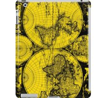 Vintage Map of The World (1685) Black & Yellow  iPad Case/Skin
