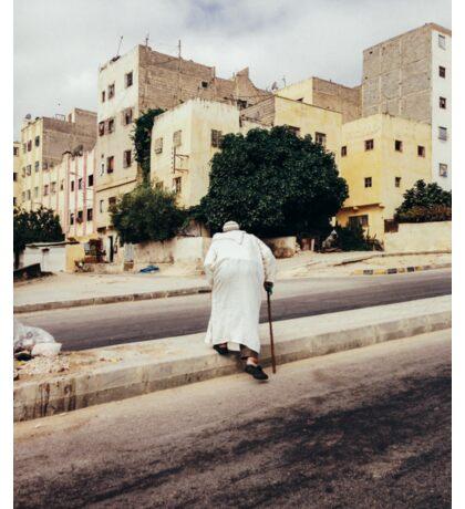 Old Man Crossing Street Sticker