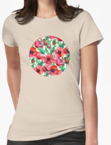 Plenty of Poppies – white Womens Fitted T-Shirt
