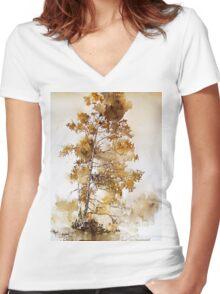 akwarelka 66 Women's Fitted V-Neck T-Shirt