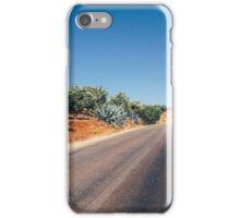 Empty Road in Moroccan Olive Tree Territory iPhone Case/Skin