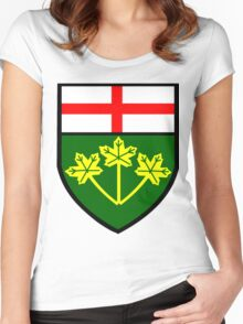 Ontario Shield of Arms Women's Fitted Scoop T-Shirt