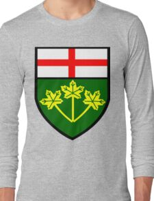 Ontario Shield of Arms Long Sleeve T-Shirt