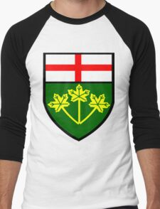 Ontario Shield of Arms Men's Baseball ¾ T-Shirt