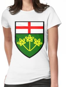 Ontario Shield of Arms Womens Fitted T-Shirt