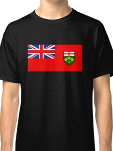Flag of Ontario, Canada. Classic T-Shirt