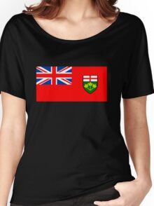 Flag of Ontario, Canada. Women's Relaxed Fit T-Shirt