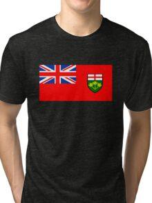 Flag of Ontario, Canada. Tri-blend T-Shirt