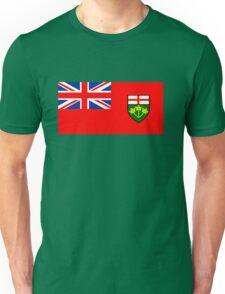 Flag of Ontario, Canada. Unisex T-Shirt