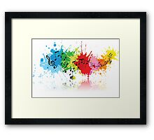 Music Colors Framed Print