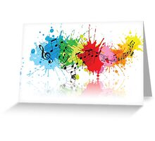 Music Colors Greeting Card