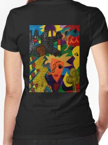 Castle Abstract 1999 Women's Fitted V-Neck T-Shirt