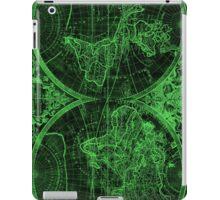 World Map (1691) Black & Green iPad Case/Skin