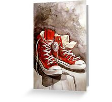 Converse sneakers Greeting Card