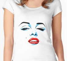 Marilyn Monroe inspired pop art Women's Fitted Scoop T-Shirt