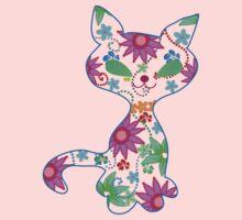 Ornate kitten illustration Kids Tee