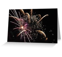 Fireworks abstact 12 2015 Greeting Card