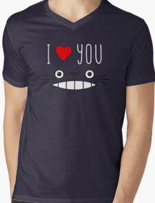Totoro - I love you Mens V-Neck T-Shirt