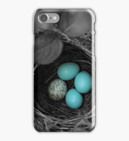 Bird Nest Black and White iPhone Case/Skin