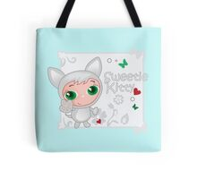 Cute funny kitten vector illustration Tote Bag