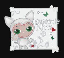 Cute funny kitten vector illustration Baby Tee