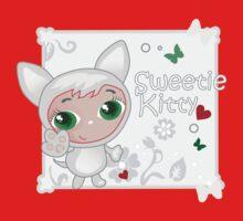 Cute funny kitten vector illustration One Piece - Long Sleeve