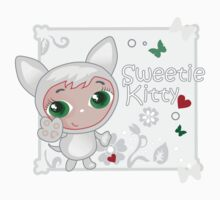 Cute funny kitten vector illustration Baby Tee