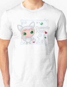 Cute funny kitten vector illustration Unisex T-Shirt