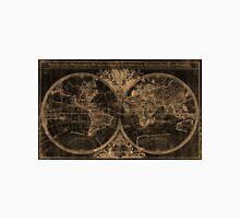 World Map (1691) Black & Light Brown Unisex T-Shirt