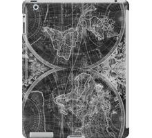 World Map (1691) Black & White iPad Case/Skin