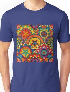 Funky Retro Pattern Mandalas Unisex T-Shirt