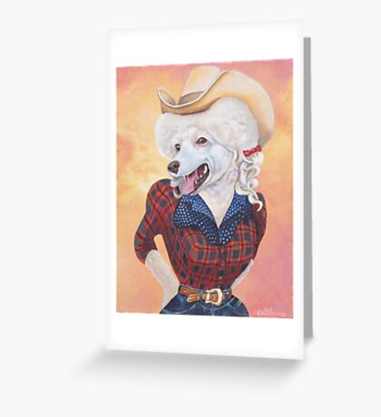 Doggy Parton (Just a Country Girl) Greeting Card