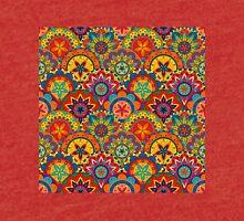 Funky Retro Mandala Pattern Tri-blend T-Shirt