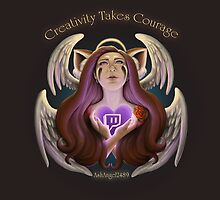 "AshAngel2489 ""creativity takes courage"" by Ash Angel2489"