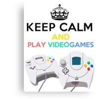 Keep Calm and play video games Canvas Print