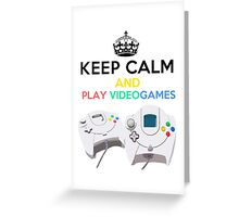 Keep Calm and play video games Greeting Card